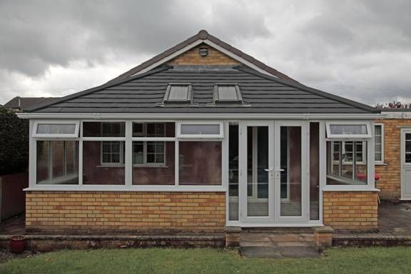 Lean To conservatory after a Guardian Tiled Effect roof