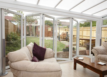 Rehau white upvc 6 section bifold doors