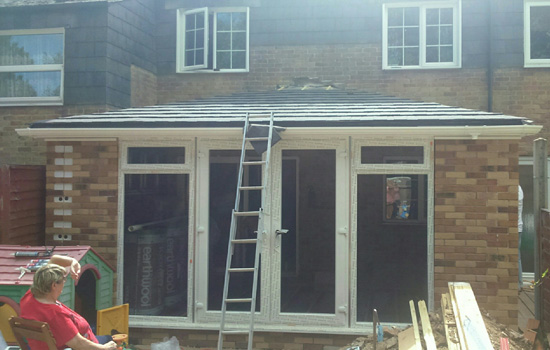 A recent customer diy prefabricated extension kit close to completion